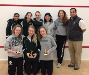 Concord Academy Girls Varsity at 2012 New England Championships at Pomfret School, CT