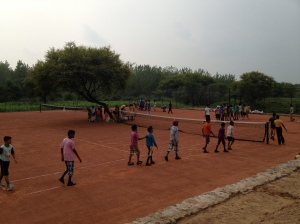 Khelshala Tennis program in Village Majra