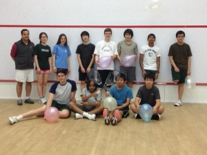 The Last Day of Class of Spring 2013 Co-ed Intramural Squash at Concord Academy.