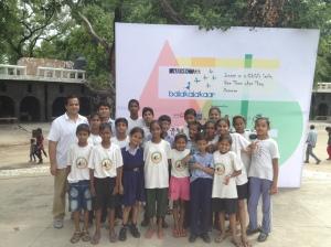 Khelshala Children at AISEC's 2013 Balakaladkaar at the Rock Garden in Chandigarh