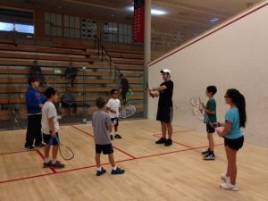 Luke Hammond, Lead Coach at Kidsquash on World Squash Day.
