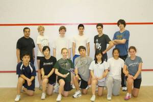 Former co-ed intramural squash class at Concord Academy.