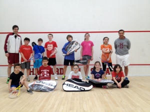 2014 Kidsquash Tournament Players and Coaches