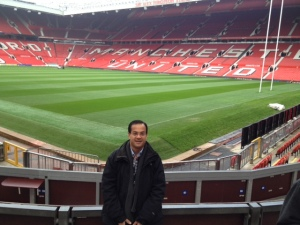 Visiting the world renowned, Manchester United Football Club – November 2013.