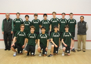 2013-14 Concord Academy Boys Varsity Squash with Coaches, Jon Ross and Tariq Mohammed