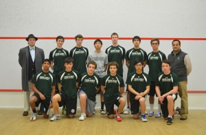 2012-13 Concord Academy Boys Varsity Squash with Coaches, Roger Hunt and Tariq Mohammed