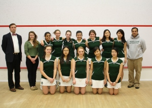 2013-14 Concord Academy Girls Varsity Squash with Coaches, Roger Hunt and Tariq Mohammed
