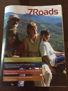 Cover of Kodai Alumni Magazine referencing Khelshala Project.