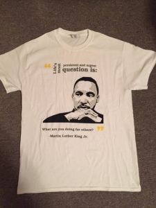 T-shirt for Emmaus Volunteers, special event for 2017 MLK Day of Service.